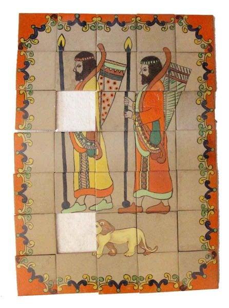 Warrior Figural Tile Mural
