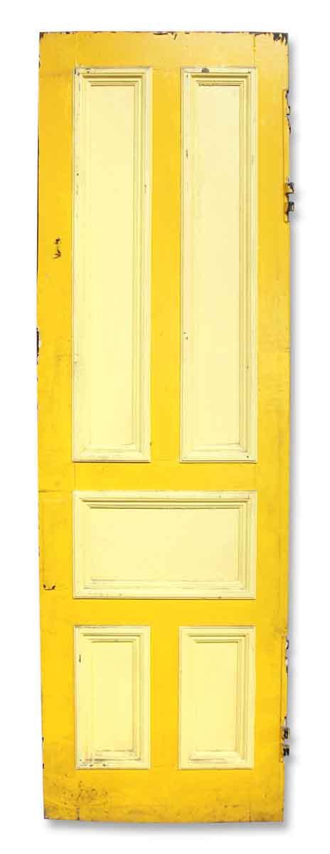 Yellow Five Paneled Door