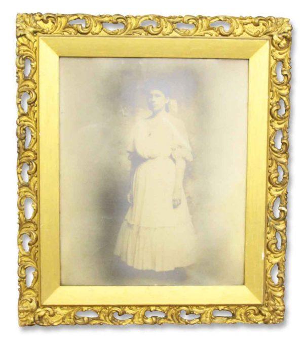 Framed Antique Portrait Photograph