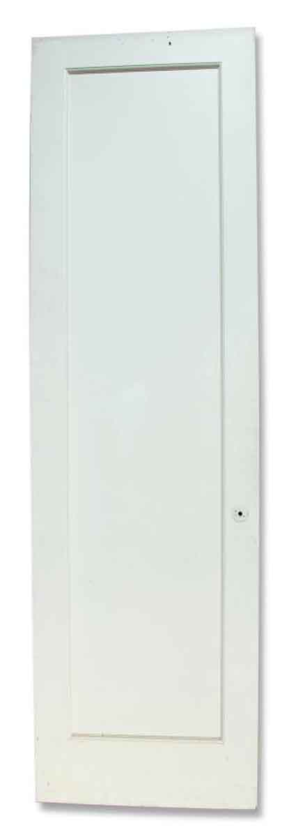 White Single Paneled Door