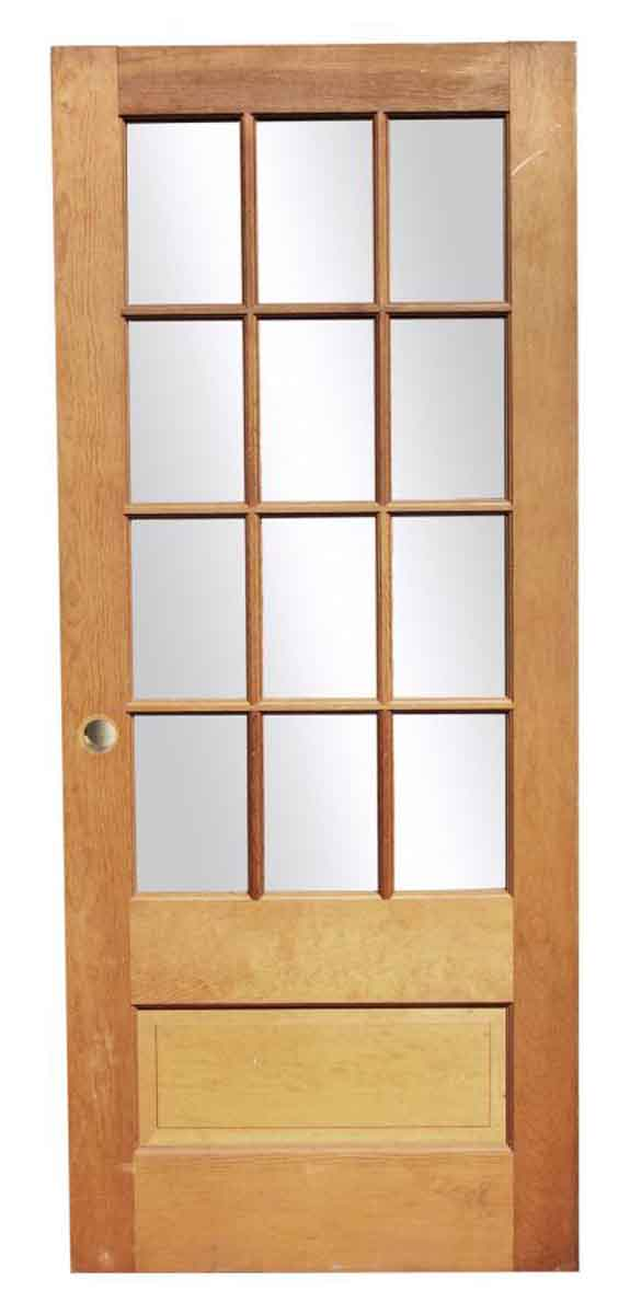 Single French Door with One Wooden Panel