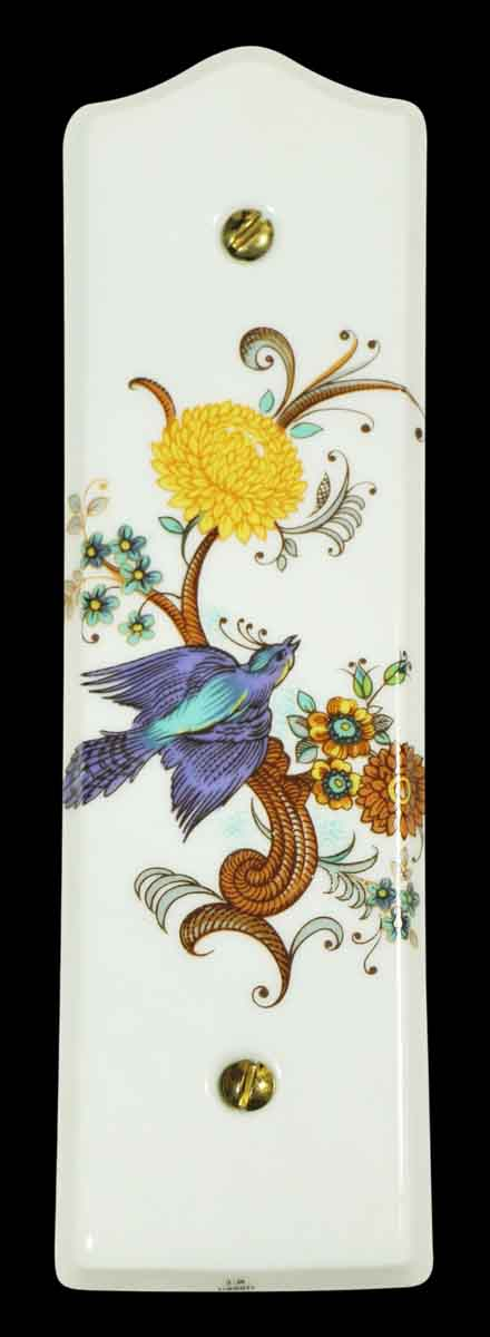 Beautiful Porcelain Bird Push Plate