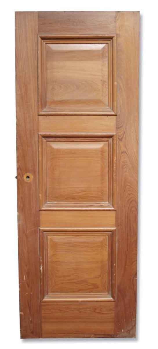 Single Three Paneled Stained Door