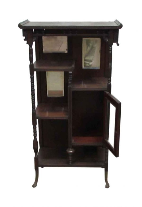 Antique Bookshelf with Claw Legs