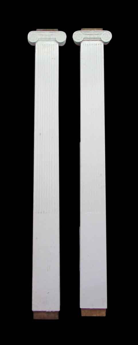 White Wooden Columns