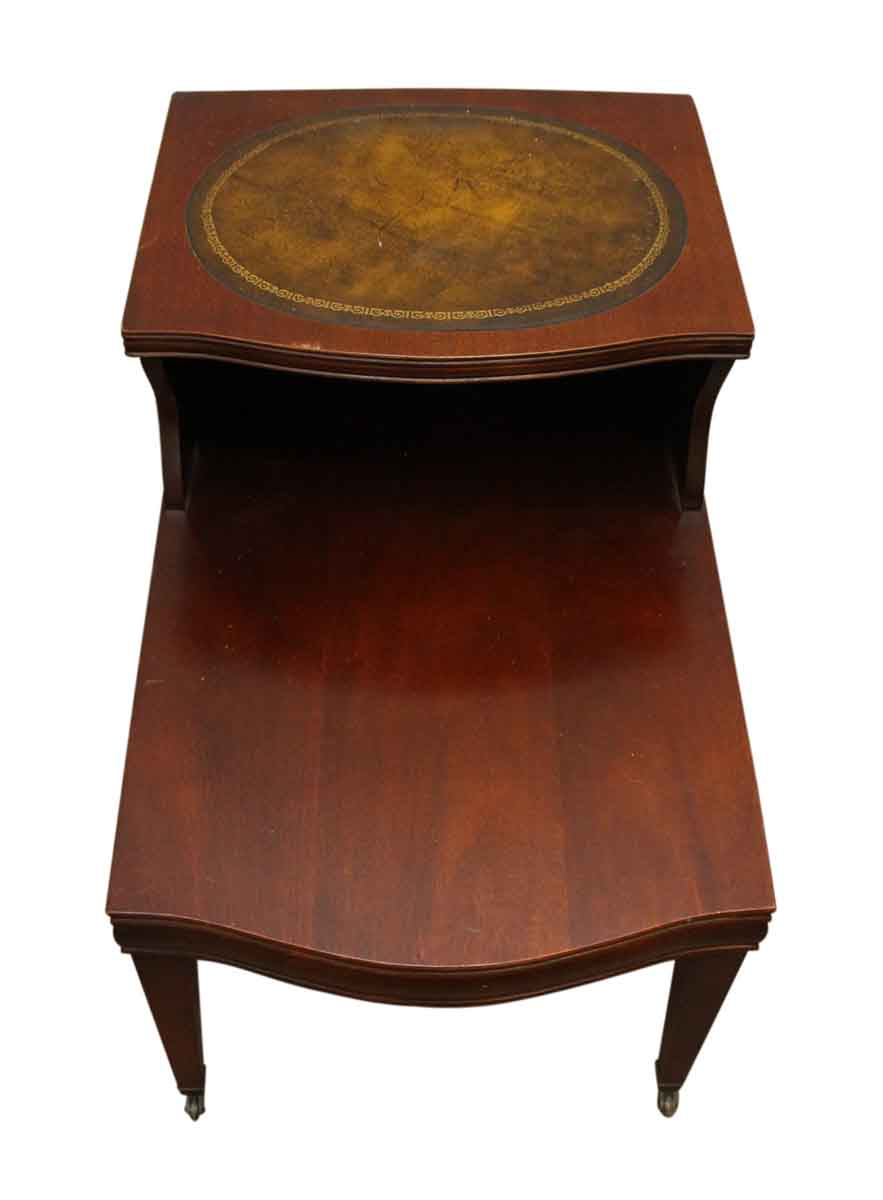 Leather top side table olde good things - Antique side tables for living room ...