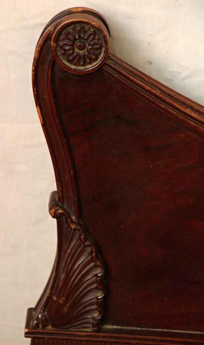 carved wooden bed frame olde good things. Black Bedroom Furniture Sets. Home Design Ideas