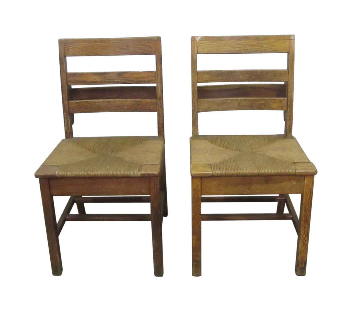 Antique School Chairs with Woven Seats - Antique School Chairs With Woven Seats Olde Good Things