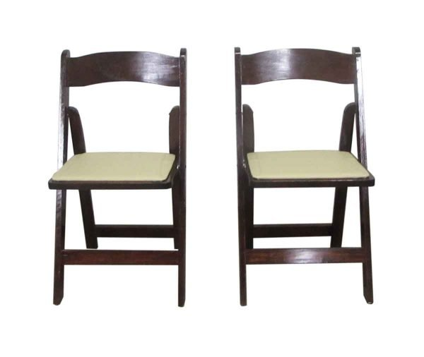 Salvaged Folding Chairs