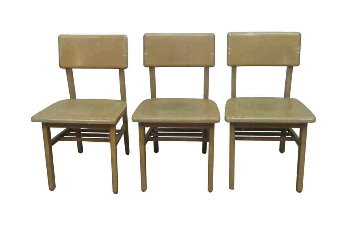 Wooden Classroom Furniture ~ Vintage wooden school chairs olde good things