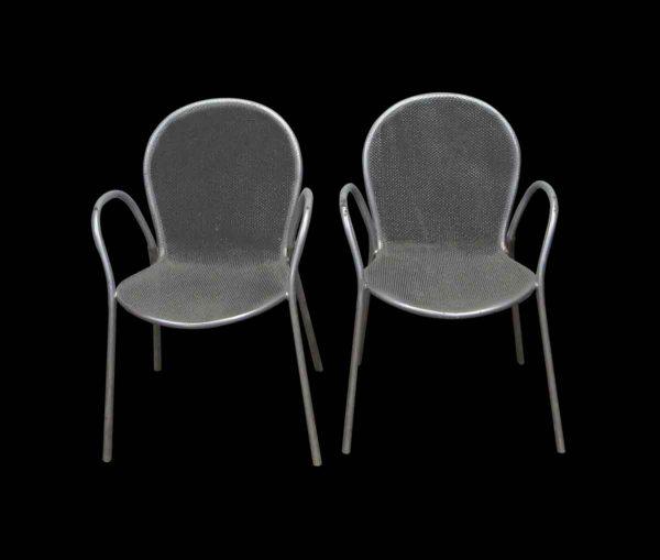 Pair of Steel Grid Chairs