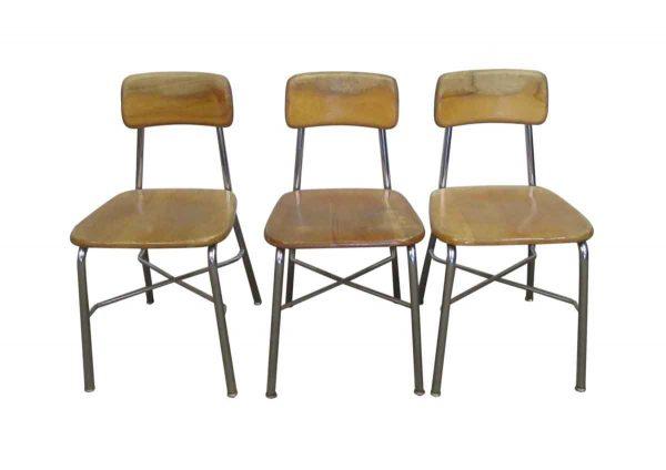 Set of Three Heywood Wakefield School Chairs