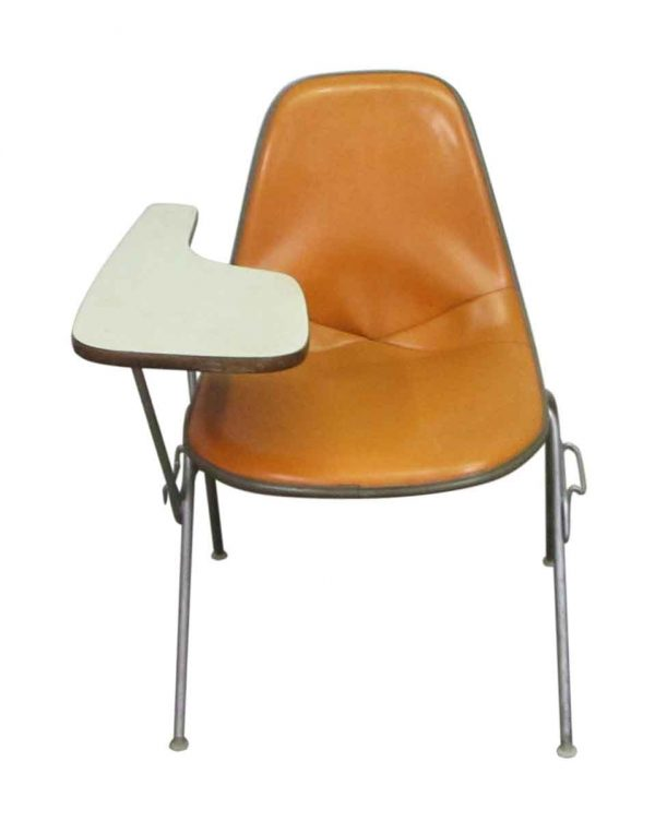 Vinyl Bucket Chair with Side Desk