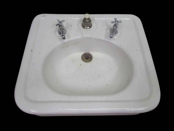 Porcelain Sink with Hardware