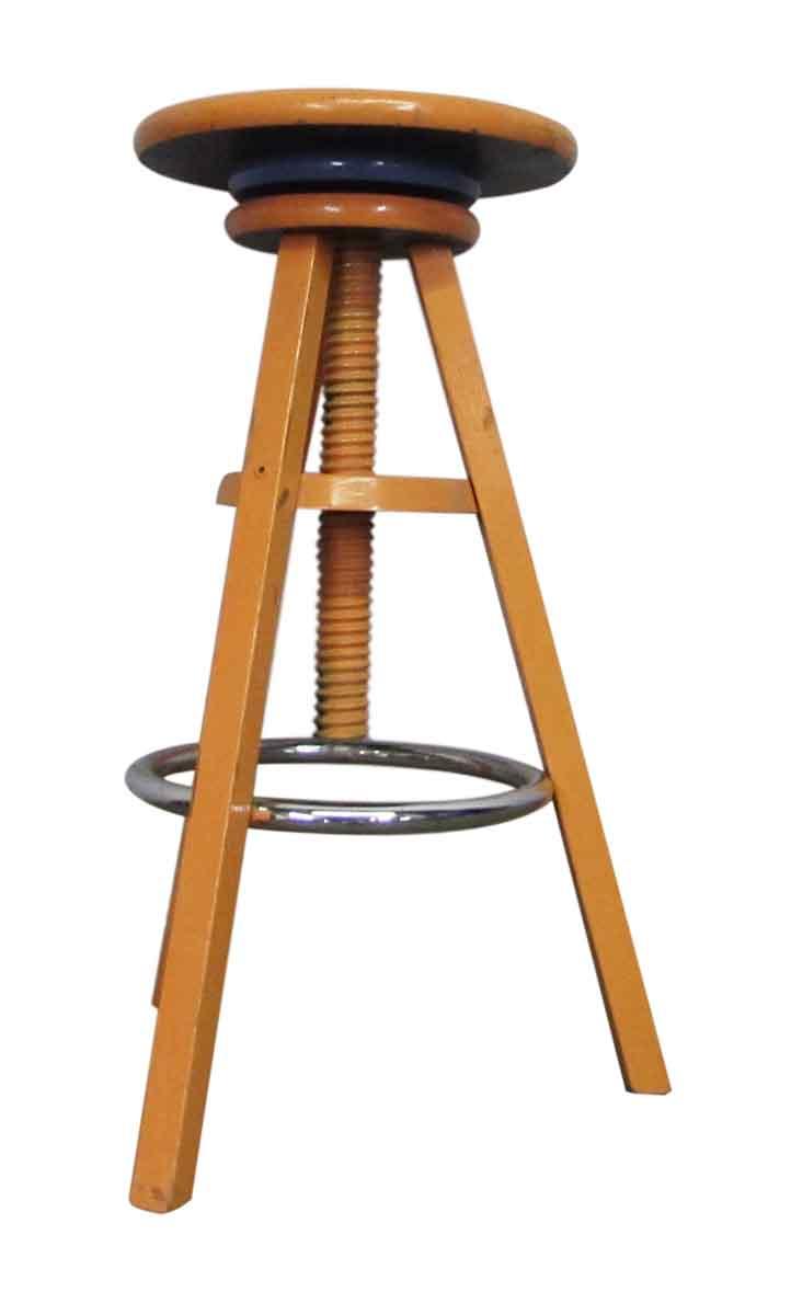 Adjustable Wooden Stool Olde Good Things