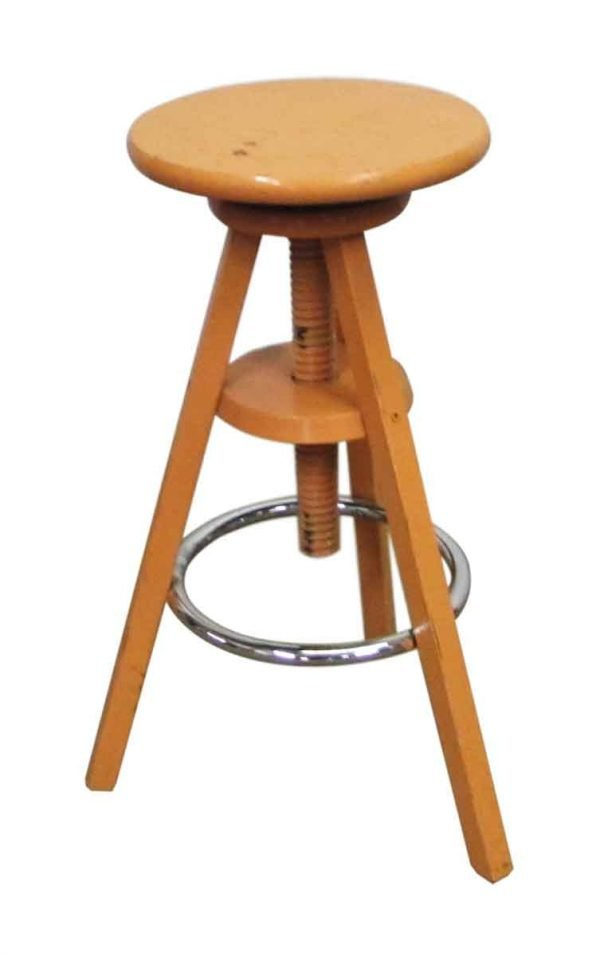 Adjustable Wooden Stool