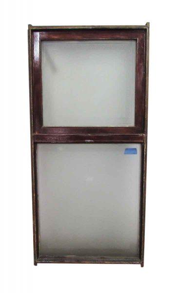 Reclaimed Frosted Glass Greek Key Double Window