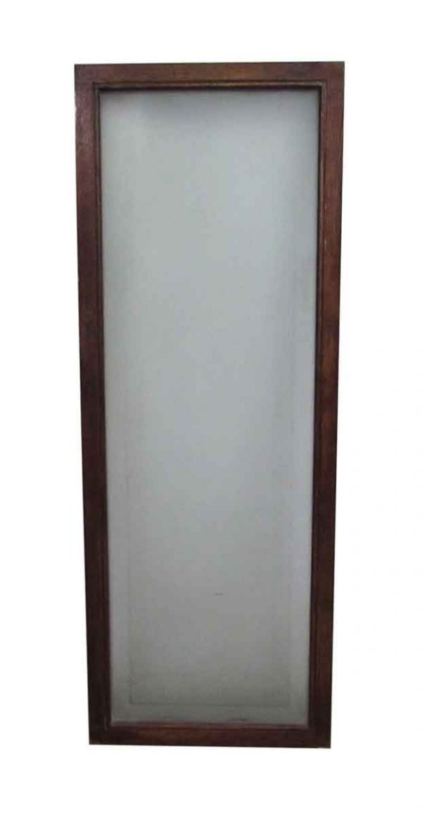 Reclaimed Frosted Glass Greek Key One Panel Window