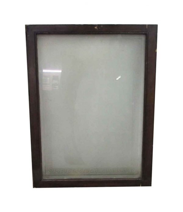 Reclaimed Frosted Glass Greek Key Small Window