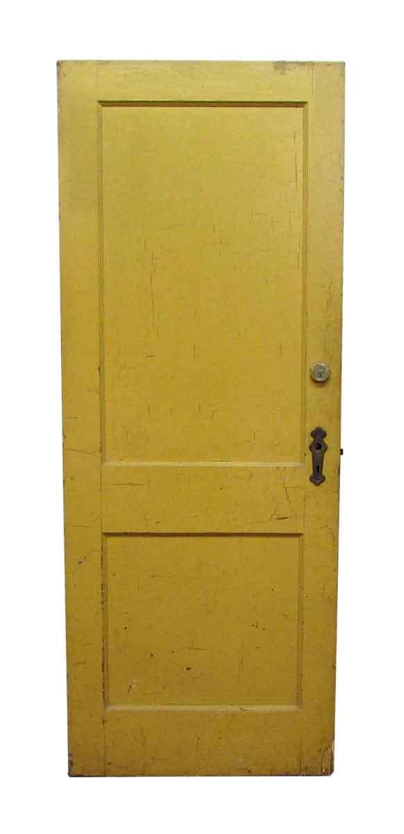 Two Panel Yellow & White Door