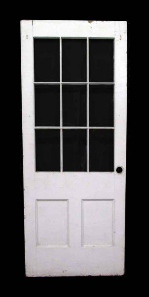 Nine Lights Half Glass Door