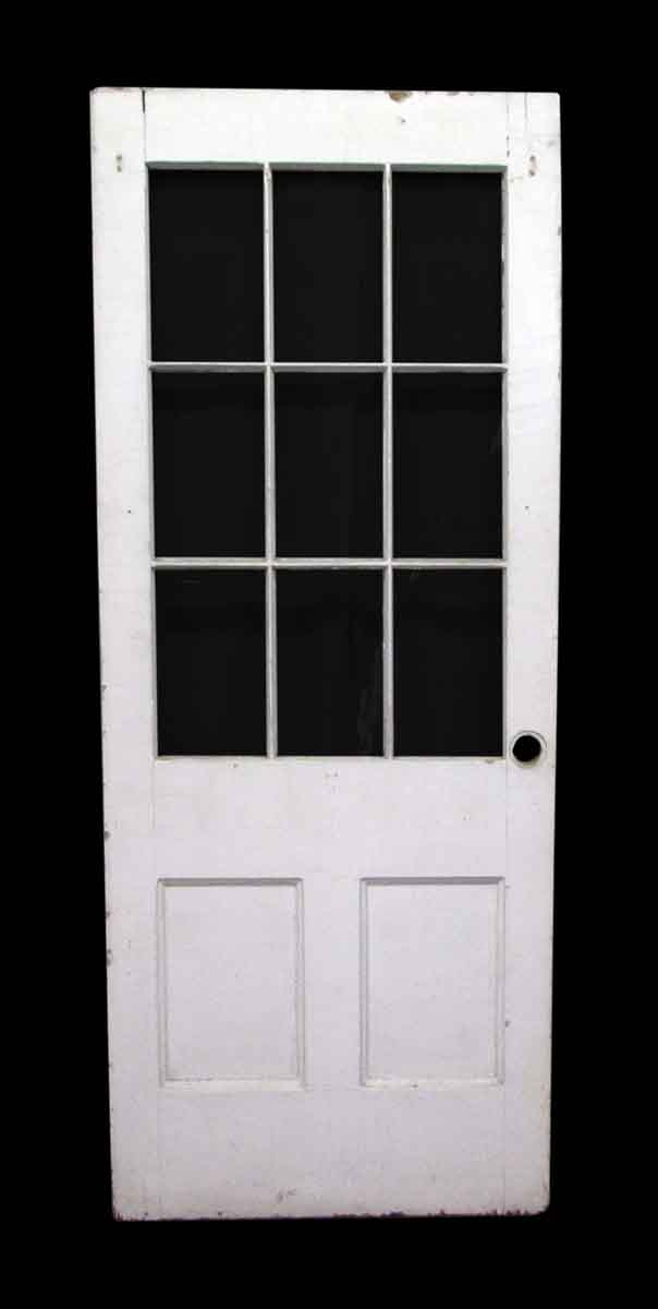 Nine lights half glass door olde good things for Half glass exterior door