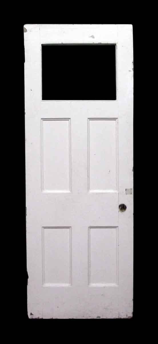 Top Glass Panel Restroom Door