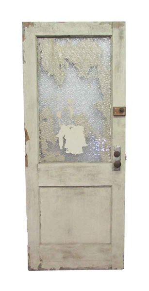 Snowflake Half Glass Commercial Door
