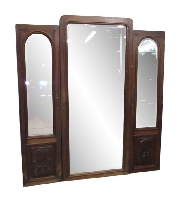 Set of Three Armoire Doors or Wall Mirror