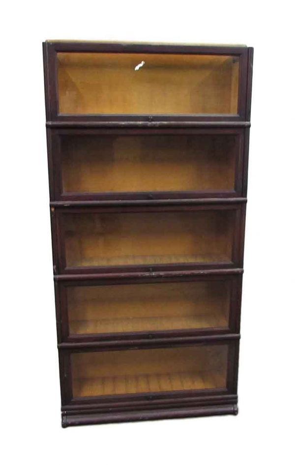 Five Shelf Barrister Bookcase