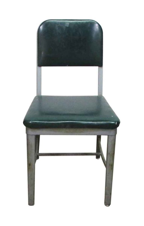 1950s Industrial Green Chair