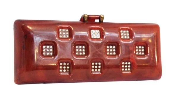 1920s Plastic Clutch with Brass Hardware