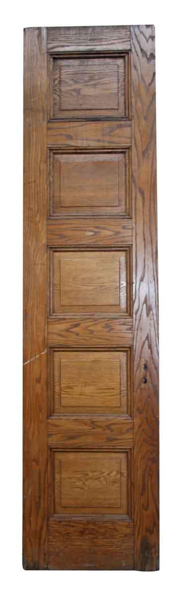 Single Narrow Square Paneled Door