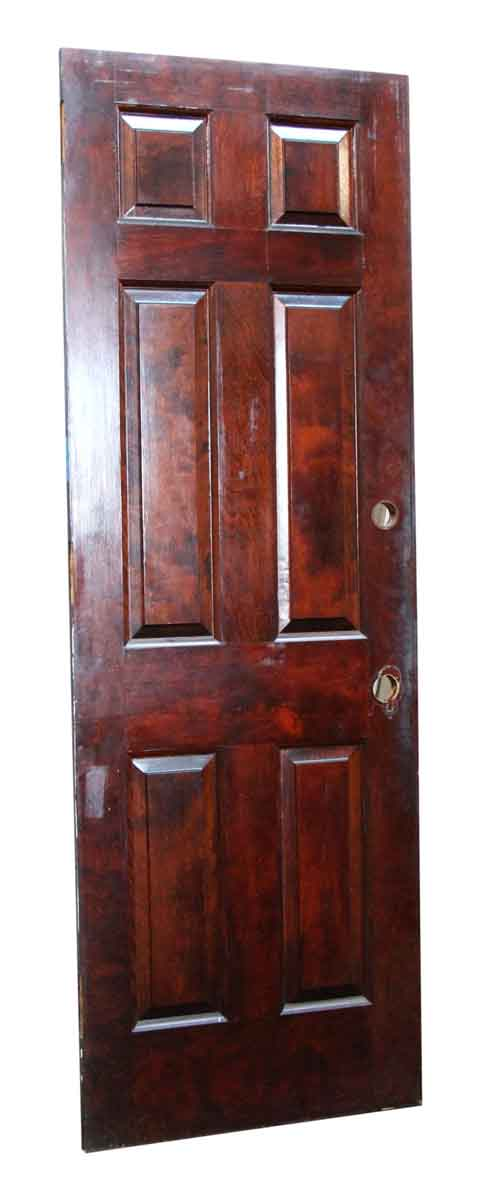 Six Paneled Salvaged Stained Door