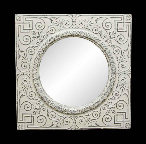 Replica Tin Medallion with Circle Mirror