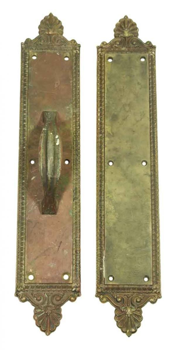 Ornate Door Pull & Push Plate Set