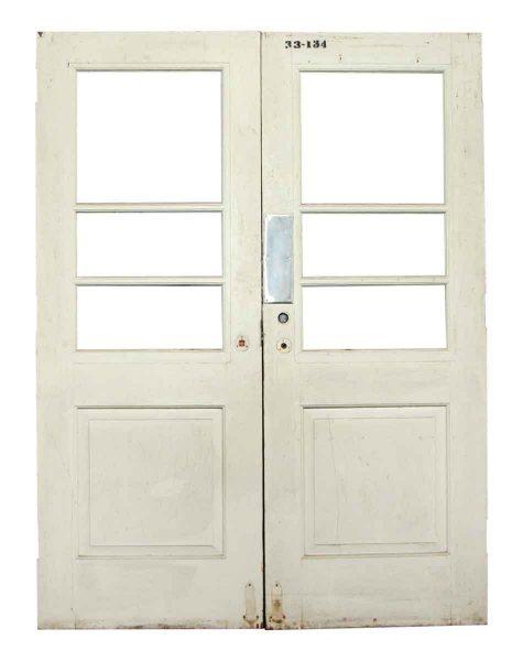 Pair of White Swinging Doors