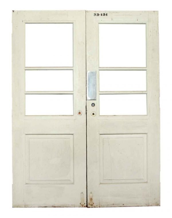 Pair of White Swinging Doors