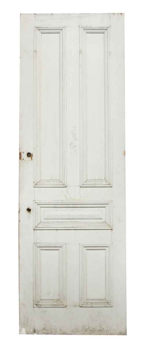 Single White Five Paneled Door