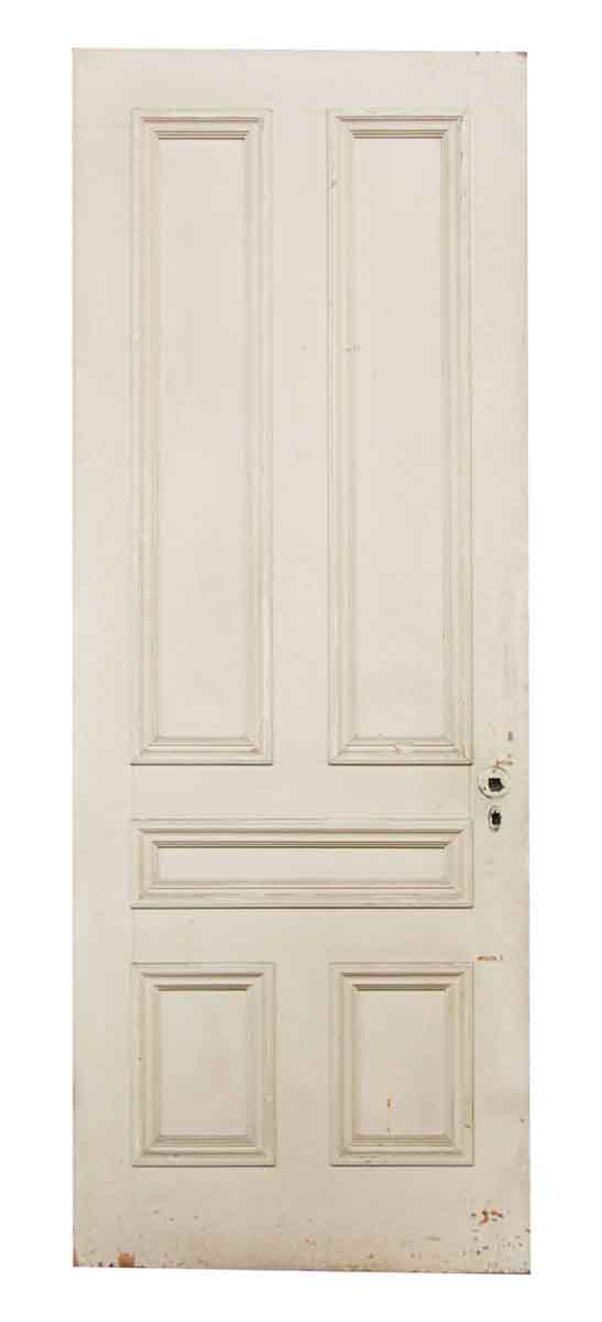 Solid wood white door olde good things for Solid wood interior doors white