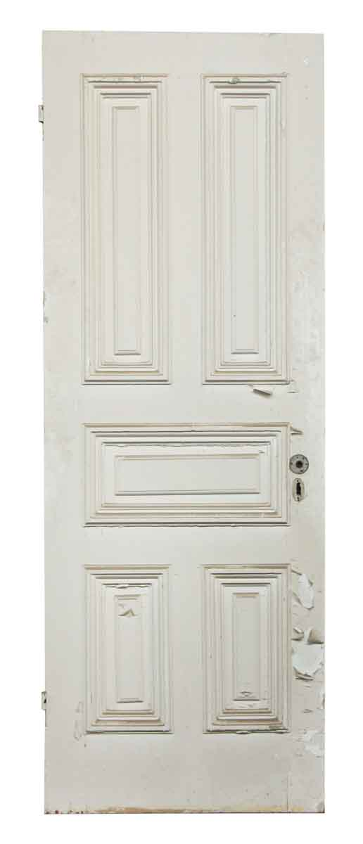 Solid White Five Paneled Door