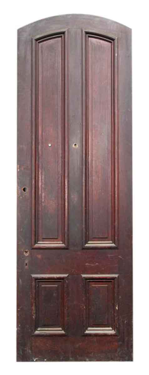 Solid Arched Four Paneled Door