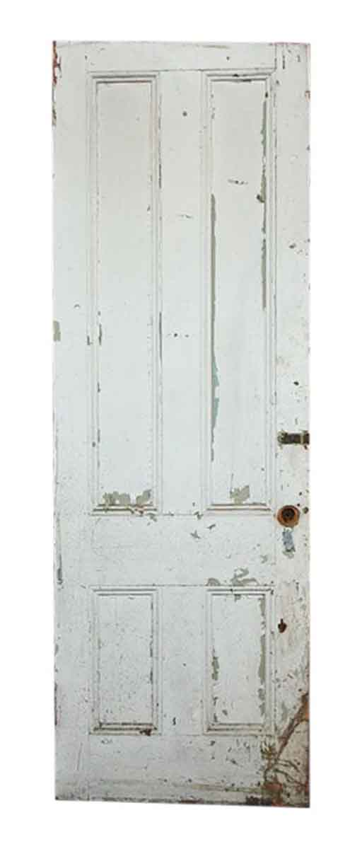 Single White & Green Crackled Paint Door