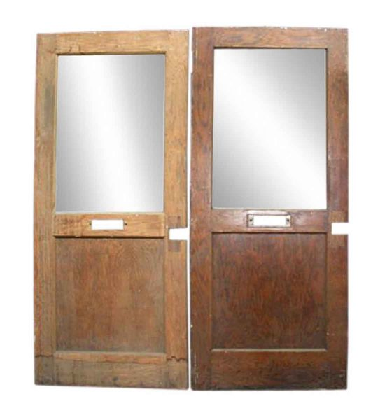 Salvaged Wide Office Door with Mail Slot
