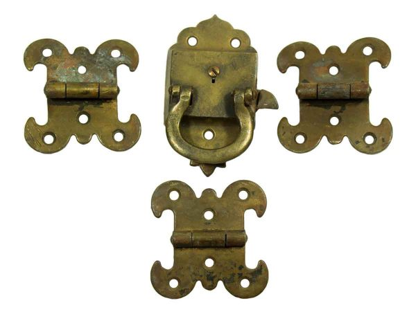 Ice Box Latch with Three Matching Hinges