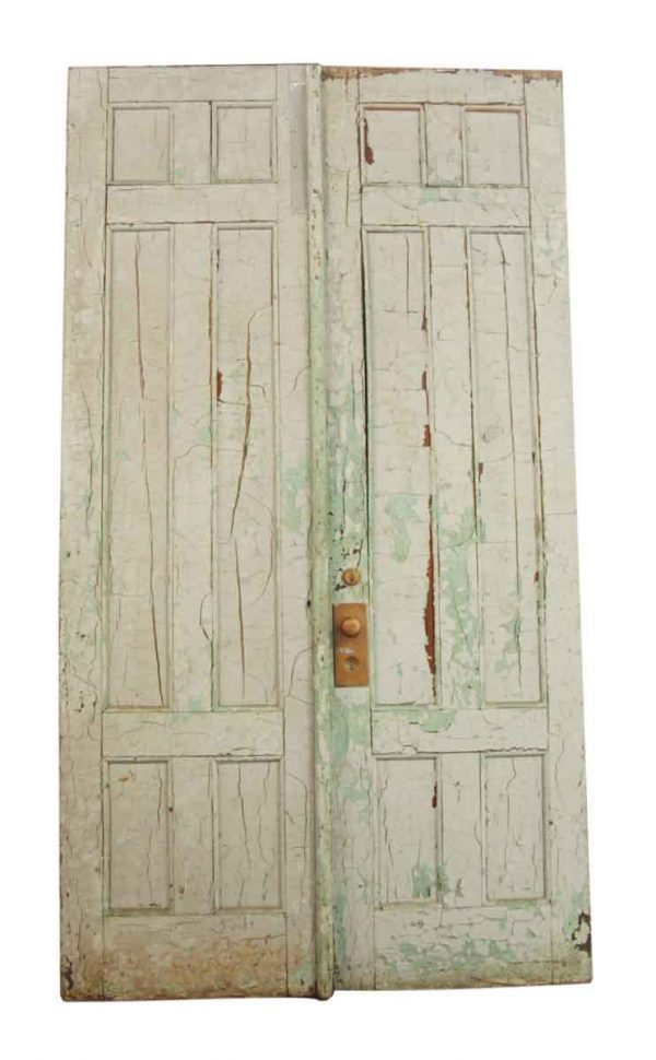 Pair of Crackled Paint Doors