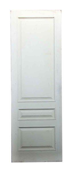 White Three Paneled Door