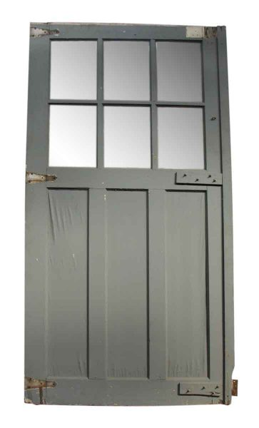 Blue & White Carriage House Door