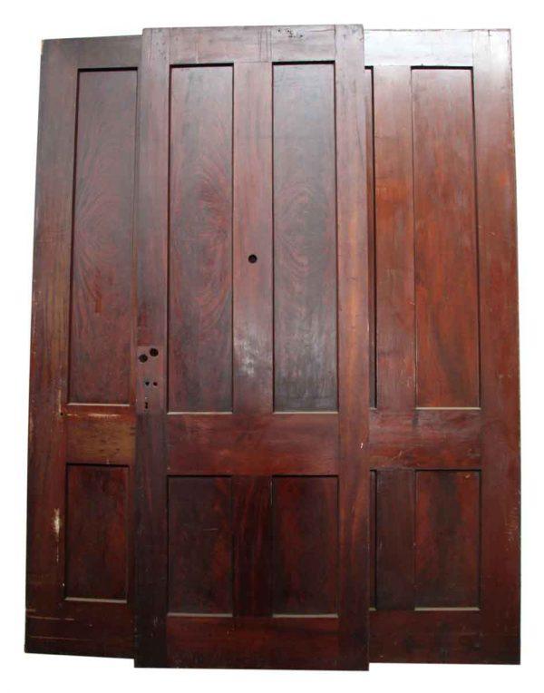 Dark Stained Large Door