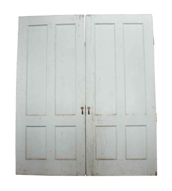 Pair of White Pocket Doors